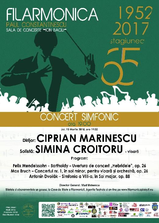 CONCERT SIMFONIC cu tânăra violonistă Simina Croitoru