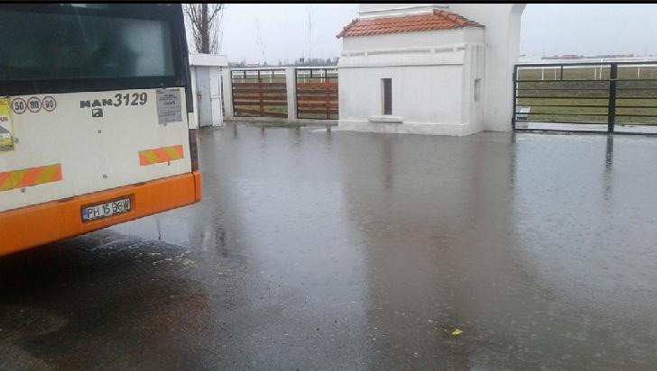 Inundatie la Hipodromul Ploiesti