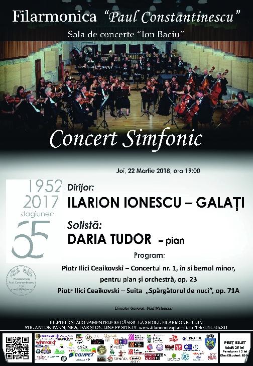 """Filarmonica """"Paul Constantinescu"""" Ploiesti vă invită la o seară Piotr Ilici Ceaikovski"""
