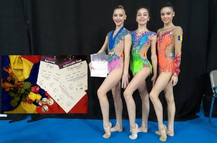 """Trei medalii de aur pentru Denisa Stoian la Turneul Internaţional """"Aphrodite Cup"""""""