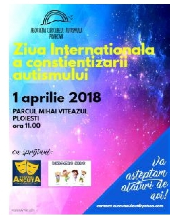 Ziua Conştientizării Autismului va fi sărbătorită, duminică, la Ploieşti