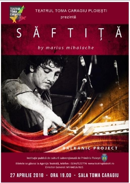 """Marius Mihalache va sustine concertul """"Saftita"""" la Teatrul"""