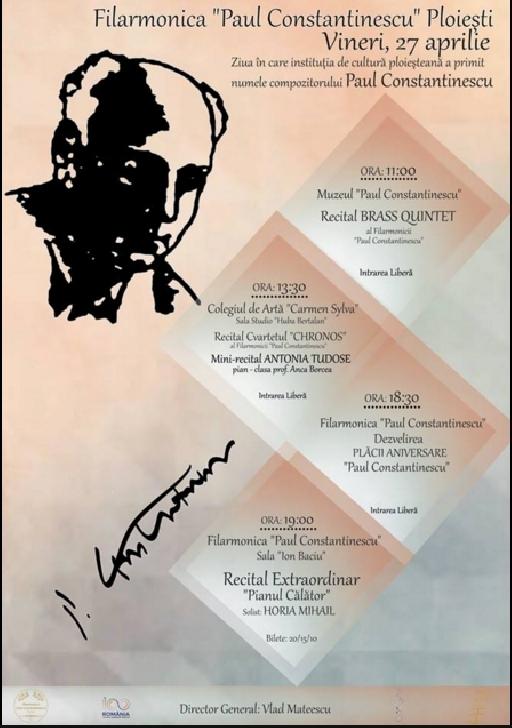 Evenimente cu ocazia zilei în care   Filarmonica a primit numele