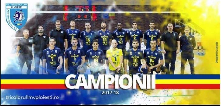Campionii,campionii .Tricolorul LMV Ploiesti ,campioana Romaniei la volei