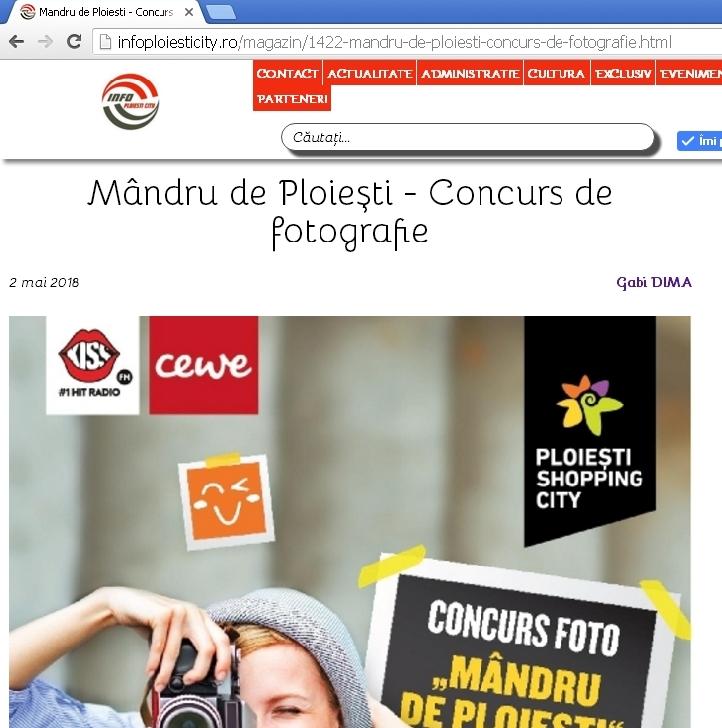 Mândru de Ploieşti - Concurs de fotografie