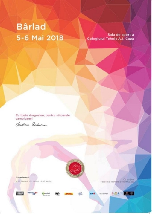 Cupa de Gimnastică Andreea Răducan .Ediţia a VIII-a, Bârlad, 5-6 Mai 2018