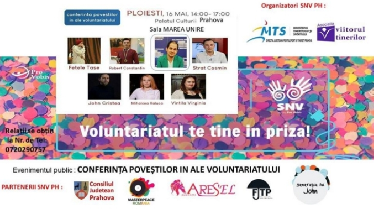 Conferinta povestilor in ale voluntariatului va avea loc pe 16 mai 2018