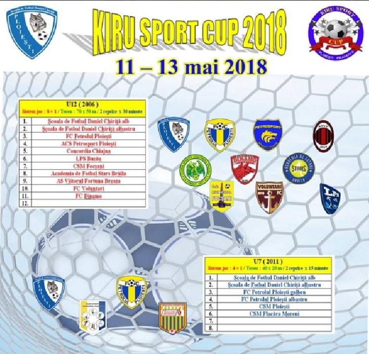 Incepe a doua editie a turneului KIRU SPORT CUP