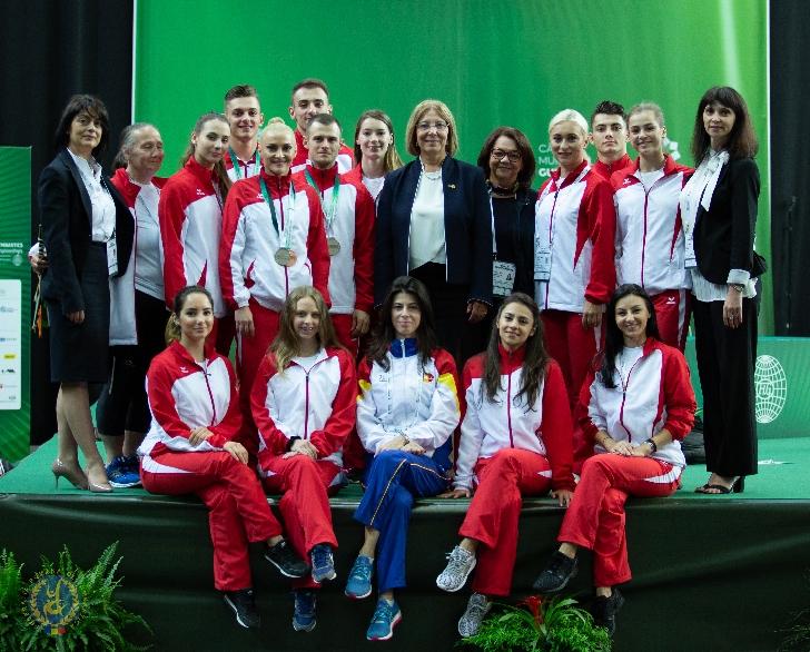 4 medalii pentru gimnastica aerobică românească  la Campionatul Mondial de Seniori din Portugalia