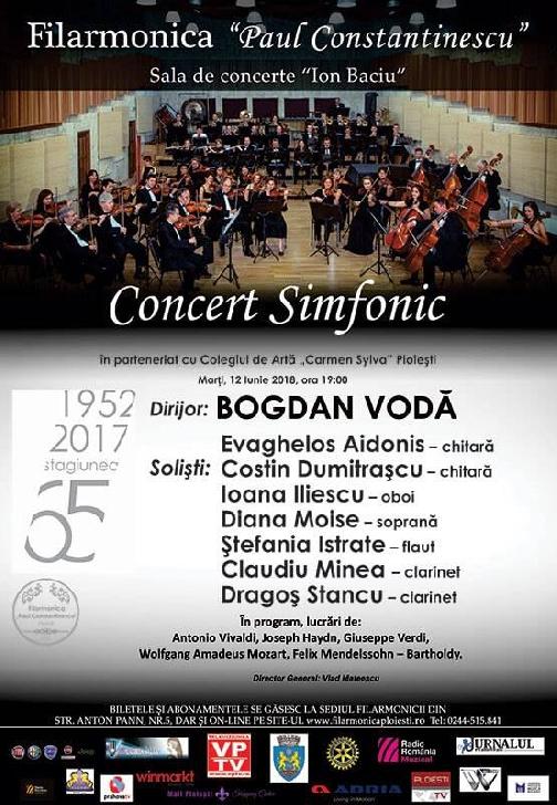 Concert Simfonic susţinut de şapte dintre absolvenţii Colegiului de Artă Carmen Sylva din Ploieşti
