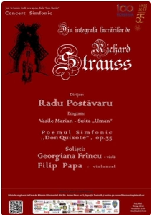 "CONCERT SIMFONIC  din ciclul ""Integrala lucrărilor de Richard Strauss"""