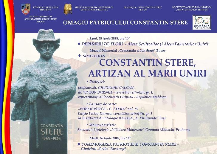 Manifestări omagiale dedicate patriotului Constantin Stere
