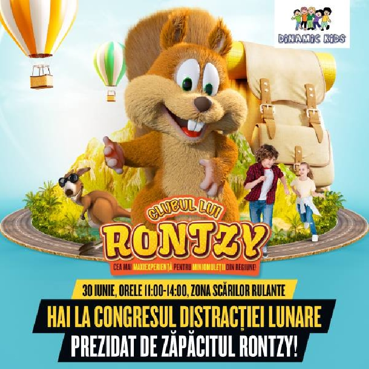 Clubul lui Rontzy reîncepe explorarea prin joacă, la Ploieşti Shopping City