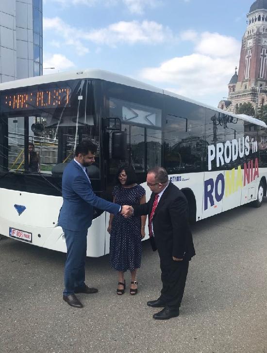 A fost semnat  contractul subsecvent privind achiziţia unui număr de 10 autobuze diesel Euro VI