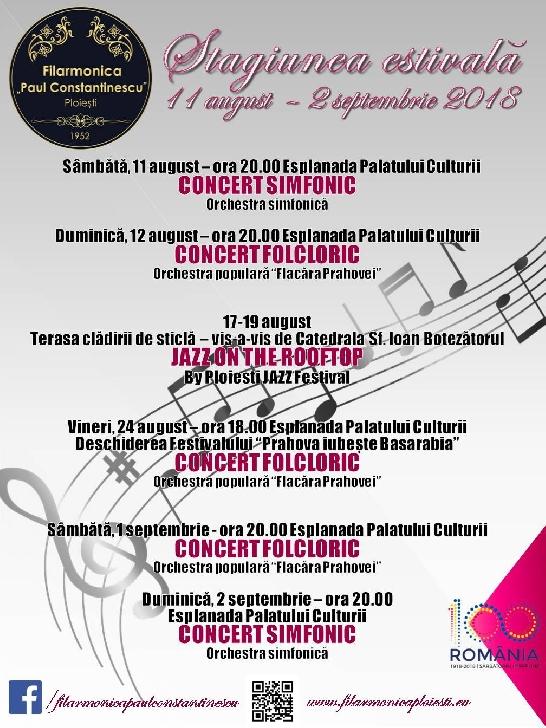 Programul stagiunii estivale a Filarmonicii