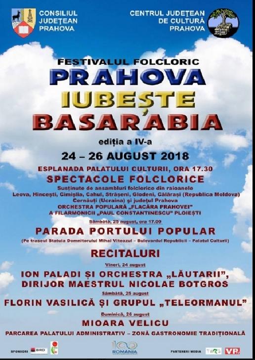 Incepe Festivalul Prahova iubeste Basarabia( editia a 4 a )