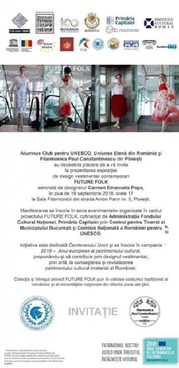 Expoziţie de design vestimentar contemporan  FUTURE FOLK la Filarmonica