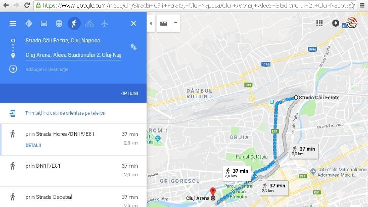 Info deplasare Cluj Napoca, pentru cei care merg la meciul dintre U Cluj Napoca şi Petrolul Ploieşti