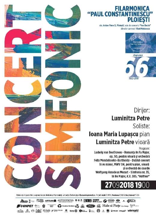 Concert simfonic cu Ioana Lupascu la Filarmonica