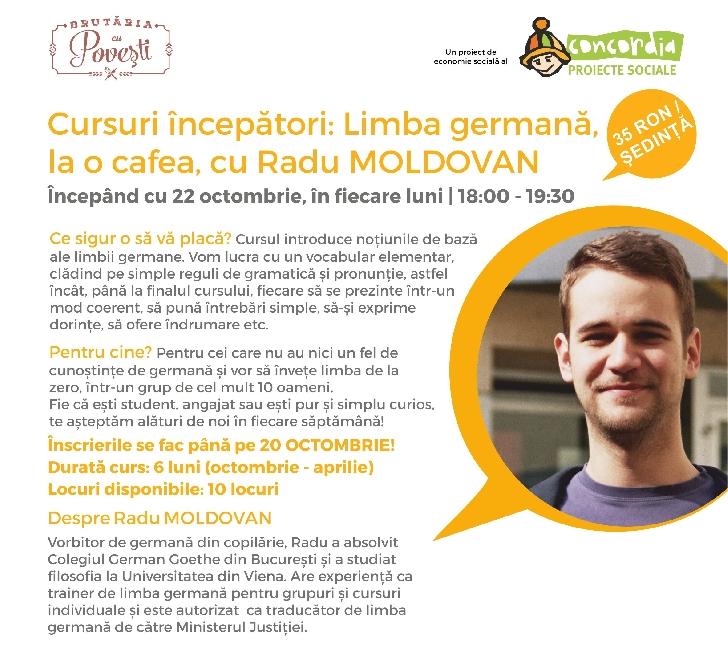 Organizatia Umanitara Concordia deschide cursuri de limba germana pentru incepatori la