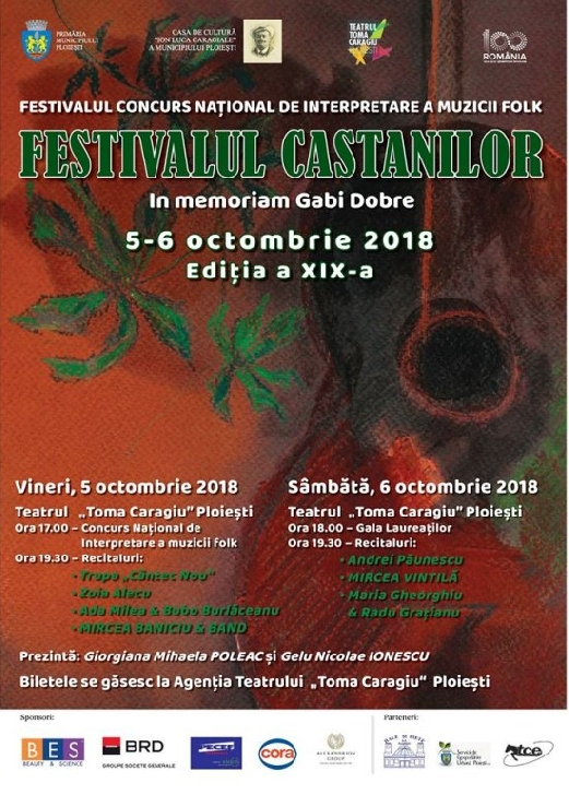 Castigatorii Festivalului Castanilor-In memoriam Gabi Dobre 2018