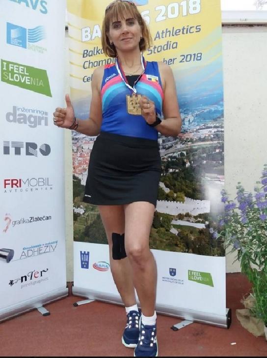 Făcăoaru Mioara Madalina este abonata la medalii în probă de marş (atletism veterani)