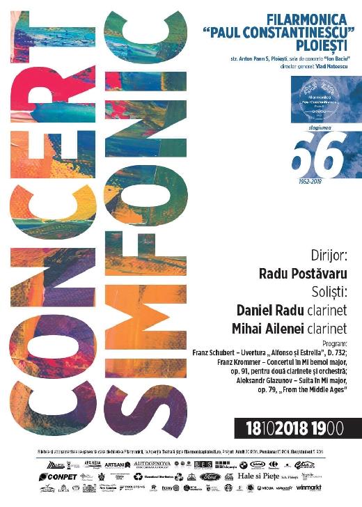 """Concert cu două clarinete pe scena Filarmonicii """"Paul Constantinescu"""""""