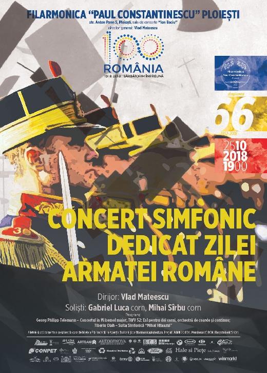"""Ziua Armatei, sărbătorită pe scena Filarmonicii """"Paul Constantinescu"""""""