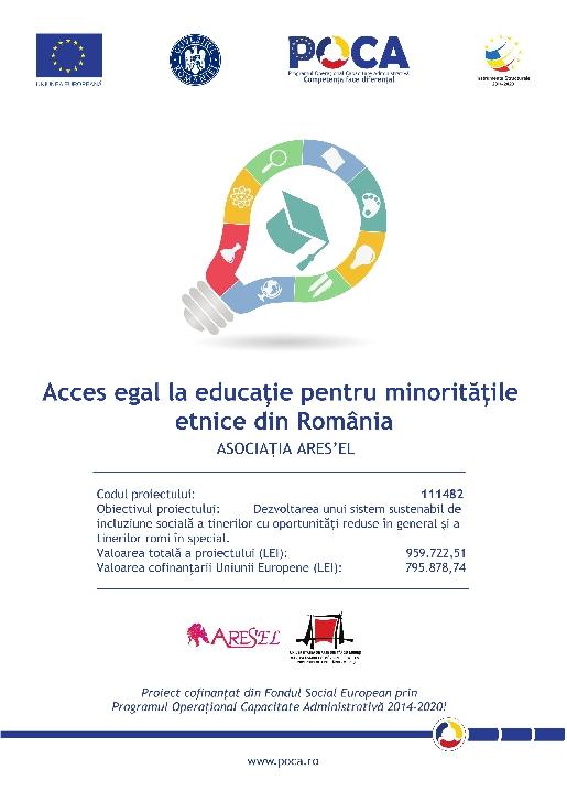 Asociatia ARES a lansat proiectul Acces egal la educaţie pentru minoritatile etnice din Romania