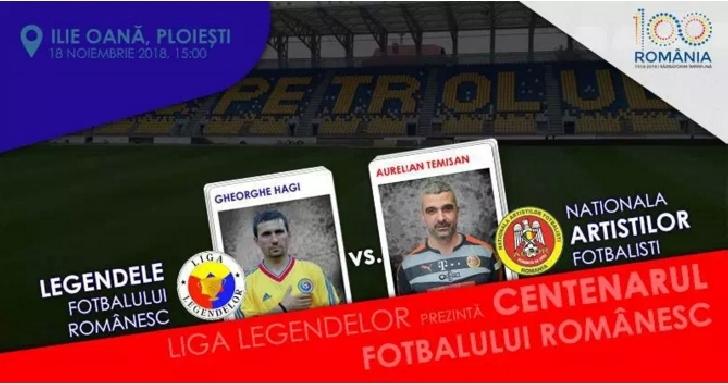 Centenarul fotbalului românesc reuneşte Generaţia de Aur. Hagi & compania vor juca la Ploiesti