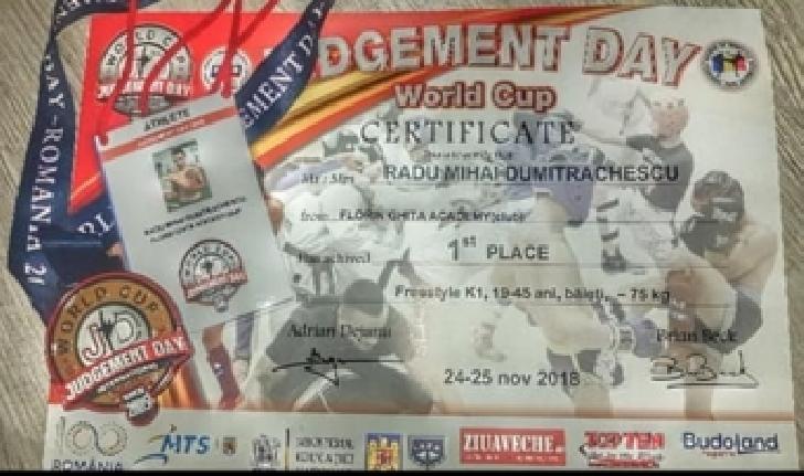FLORIN GHITA ACADEMY,rezultate remarcabile la Cupa Mondiala Judgement Day -Targoviste 2018
