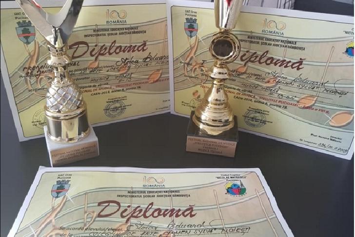 Ploiesteanul Eduard Florentin Stoica , 2 premii  la Festivalul  National