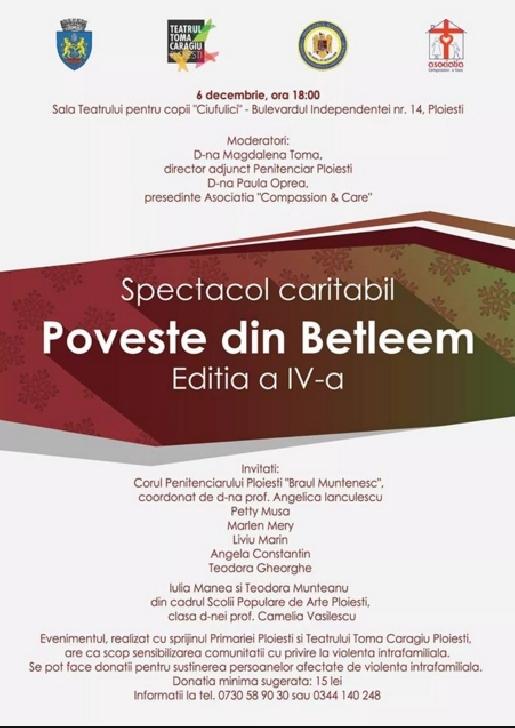 """Spectacol caritabil  """"Poveste din Betleem ediţia a IV- a """""""