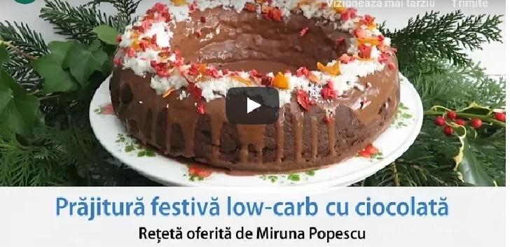 Prăjitura low-carb de ciocolată,pentru o dieta sanatoasa