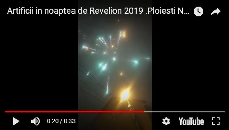 Show pirotehnic in noaptea de Revelion la Ploiesti (  video )