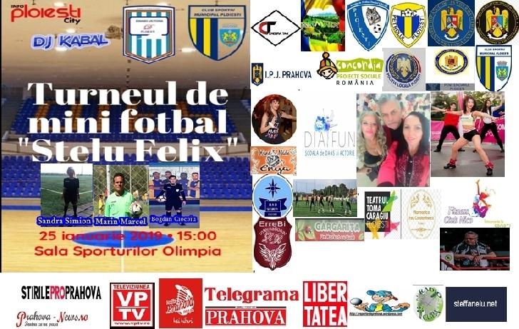 """Jucam fotbal pentru Stelu Felix-Turneu caritabil de minifotbal la  Sala Sporturilor """"Olimpia """" Ploiesti"""