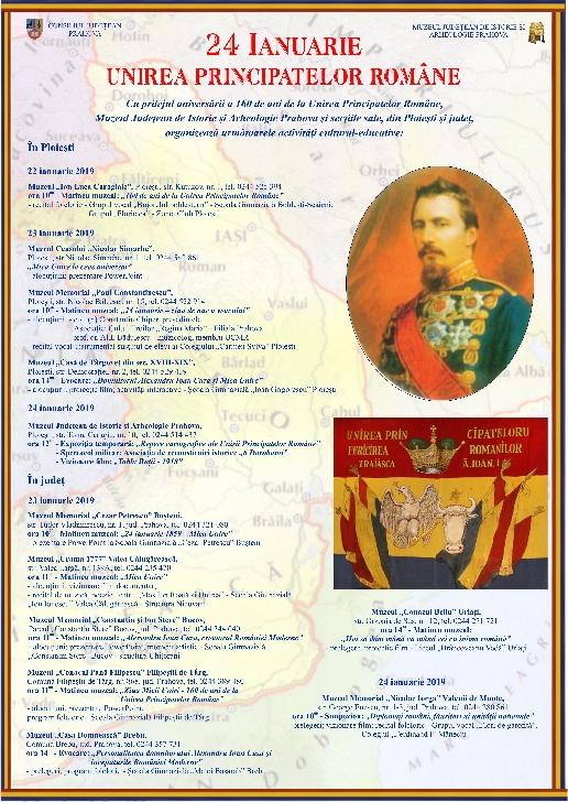 24 IANUARIE.UNIREA PRINCIPATELOR ROMANE la muzeele din Prahova