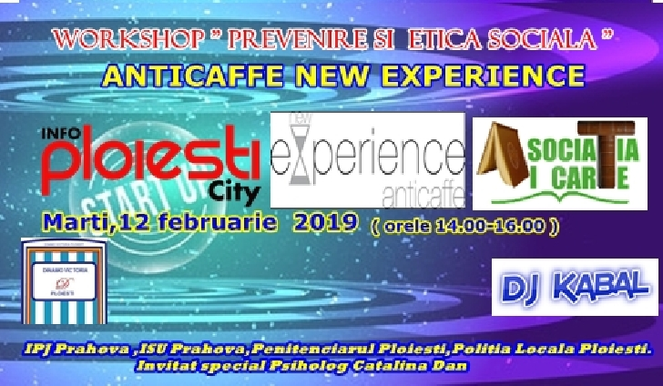 Workshop despre preventie si etica sociala,la AntiCaffe New Experience