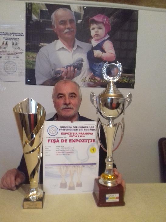 Domnul  Constantin  Băncilă a fost prezent la Expoziţia Judeţeană de columbofilie cu porumbelul 288937/18