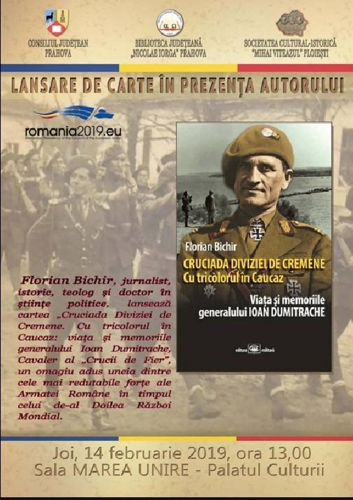 Jurnalistul si istoricul ,Florian Bichir isi lanseaza cartea,la Biblioteca Judeteana
