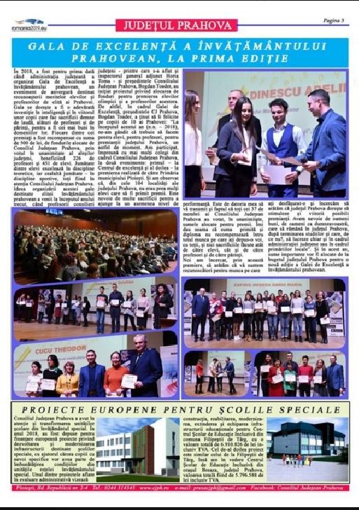 A aparut primul numar din anul 2019 al Buletinului informativ editat de Consiliul Judeţean Prahova
