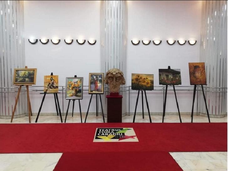 Expoziţie de pictură ale artiştilor Antonio Romeo Palie şi Mihai Olteanu, la Teatrul