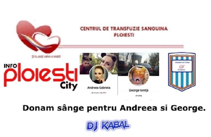 Donam sânge pentru Andreea şi George, campanie umanitară pentru victimele accidentului rutier din zona localităţii Gura Viitoarei