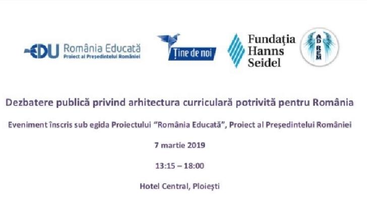 La Ploiesti va avea loc o dezbatere publică despre  arhitectură curriculară
