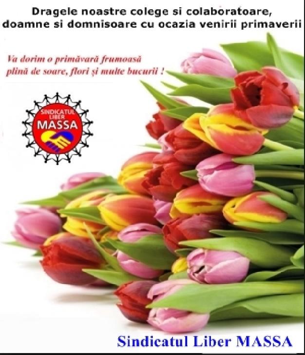 Sindicatul Liber MASSA,urare de 1 martie