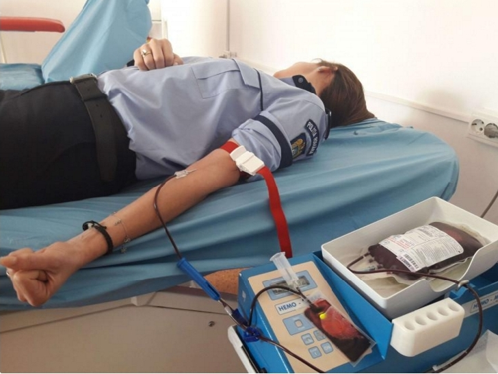 Politistii prahoveni ,vor dona sange in cursul acestei saptamani