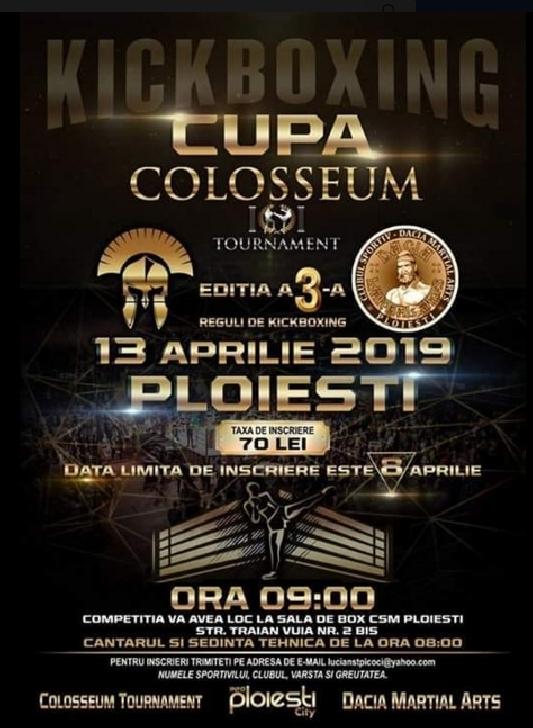 Cupa Colosseum (ediţia 3) la kickboxing vine la Ploieşti