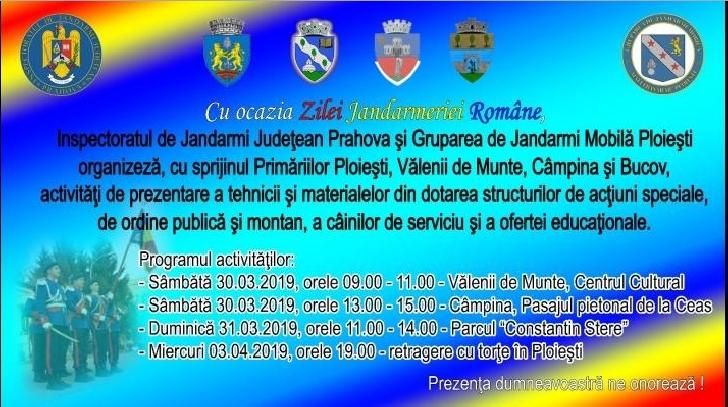 Jandarmeria Prahova aniverseaza Ziua Jandarmeriei Romane