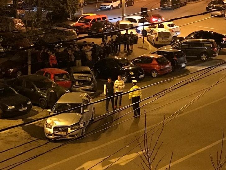 Duminica seara un autoturism condus de un minor de 15 ani a facut un accident in lant