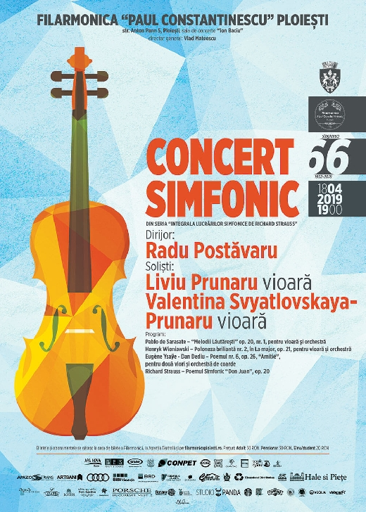 Doi dintre marii violonisti ai lumii concertează la Filarmonica